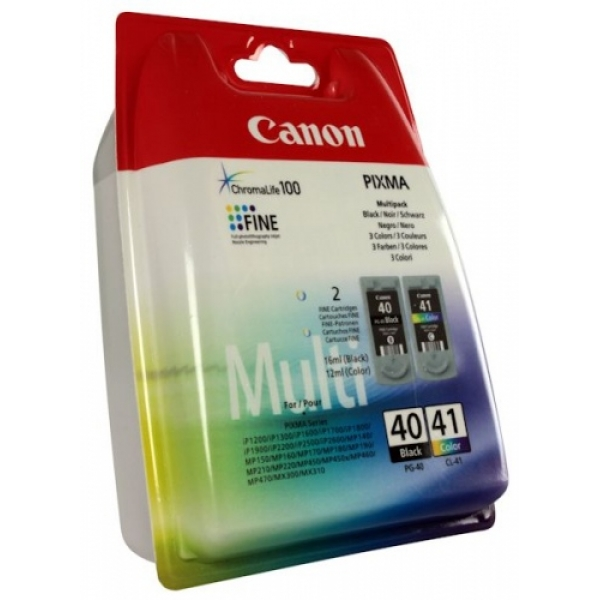 Canon Ink PG-40 / CL-41 Multipack Blister,  (0615B043)